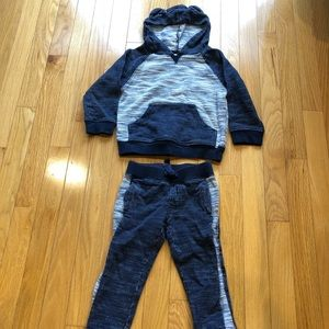 Gymboree boy sweatsuit sweatshirt sweatpants